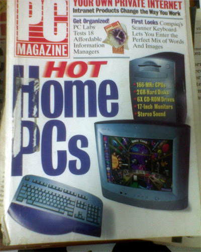 old PC Magazine cover