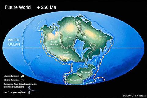 prediksi muka bumi 250 juta tahun lagi